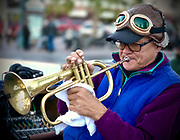 Horn player in Palm Springs