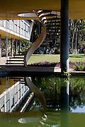 Sao Jose dos Campos_SP, Brasil.. .Residencia de Olivio Gomes, projetada por Rino Levi com jardins de Burle Max em Sao Jose dos Campos, Sao Paulo...The Olivio Gomes residence, designed by Rino Levi with Burle Max garden in Sao Jose dos Campos, Sao Paulo...Foto: BRUNO MAGALHAES / NITRO