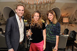 First look of the new Samsung Curved UHD TV at the Candy & Candy penthouse at No. 1 Arlington Street, London - an exclusive Samsung BlueHouse event held on 27th February 2014.<br /> Picture shows:- DOMINIC EVANS, HOLLY LINTELL and FUSCHIA KATE SUMNER