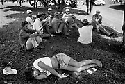 RIO BONHITO, BRAZIL - 02/1996 - POLITICS / SOCIAL, 10,000 squatters try to build a community on a 200,000-acre spread owned by the Giacometti lumber company..© Christophe VANDER EECKEN....