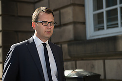 © Licensed to London News Pictures. 26/05/2015.  <br /> <br /> Former News of The World editor Andy Coulson leaves Edinburgh High court where he is currently on trial on 26 May 2015.<br /> <br /> Photo credit should read Max Bryan/LNP