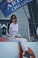 The Artemis Challenge at Aberdeen Asset Management Cowes Week 2014. <br /> Yasmin le Bon<br /> FREE for editorial use. Credit: Lloyd Images