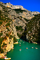 beautiful view of the verdon gorge canion in var france