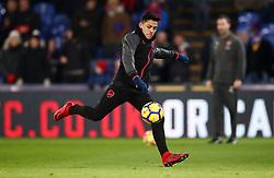 Arsenal's Alexis Sanchez during the warm up before the Premier League match at Selhurst Park, London.