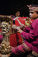 Gamelan is a musical ensemble from Indonesia, typically from Bali, featuring a variety of instruments - metallophones, xylophones, drums and gongs; bamboo flutes and strings.