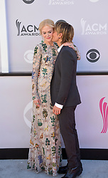 April 2, 2017 - Las Vegas, Nevada, U.S. - Country singer KEITH URBAN and wife actress NICOLE KIDMAN attend the 52nd Academy of Country Music Awards at T-Mobile  Arena.  (Credit Image: © Marcel Thomas via ZUMA Wire)