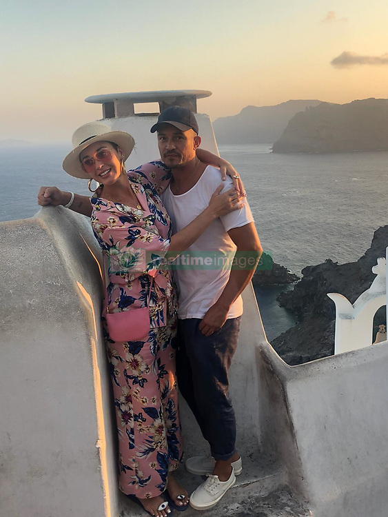 NO WEB FOR FRANCE - Exclusive - Orlando Bloom and Katy Perry are having a good time in Greece on September 27, 2018. The couple made their first official appearance the night before. Photo by ABACAPRESS.COM