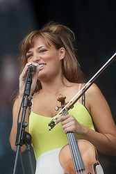 Nicola Benedetti opens the main stage on Sunday at T in the Park 2012, held at Balado, in Fife, Scotland.