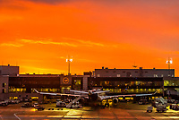 Sunrise, Frankfurt am Main Airport, Frankfurt, Germany.