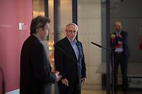 DEU, Deutschland, Germany, Berlin, 05.05.2020: Michael Vassiliadis, Chef der IG BCE, bei einem Pressestatement mit SPD-Fraktionschef Dr. Rolf Mützenich im Deutschen Bundestag.