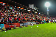 NONTHABURI, THAILAND - JULY 02: Home crowd after the second half of the Thai League: SCG Muangthong United vs Pattaya United at SCG Stadium, Nonthaburi, Thailand on July 02, 2017.<br /> .<br /> .<br /> .<br /> (Photo by: Naratip Golf Srisupab/SEALs Sports Images)<br /> .<br /> Any image use must include a mandatory credit line adjacent to the content which should read: Naratip Golf Srisupab/SEALs Sports Images