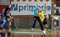 Goalkeeper of Krim Amra Pandzic at handball match of 1/4 finals of Women handball Cup Winners cup between RK Krim Mercator, Ljubljana and C.S. Rulmentul-Urban Brasov, Romania, in Arena Kodeljevo, Ljubljana, Slovenia, on 8th of March 2008. Rulmentul-Urban won match against RK Krim Mercator with 29:27.