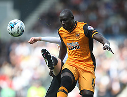 Will Hughes of Derby County (L) and Mohamed Diame of Hull City in action - Mandatory by-line: Jack Phillips/JMP - 14/05/2016 - FOOTBALL - iPro Stadium - Derby, England - Derby County v Hull City - Sky Bet Championship Play-Off Semi-Final First-Leg