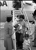 1979 - Vietnamese Refugees Arrive At Dublin Airport.  (M85).