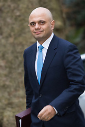 Downing Street, London, February 9th 2016.  Business Secretary Sajid Javid arrives in Downing Street for the weekly cabinet meeting. ///FOR LICENCING CONTACT: paul@pauldaveycreative.co.uk TEL:+44 (0) 7966 016 296 or +44 (0) 20 8969 6875. ©2015 Paul R Davey. All rights reserved.