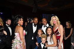 Byron Allen Host an Oscar Party at the Beverly Wilshire Hotel. 04 Mar 2018 Pictured: Jaime Foxx, Bryon allen, LynnSwann, Quincy Jones. Photo credit: BLAK-OPS / MEGA TheMegaAgency.com +1 888 505 6342