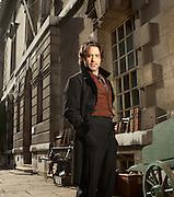 Robert Downey Jr, pictured on the set of Sherlock Holmes in Greenwich, London