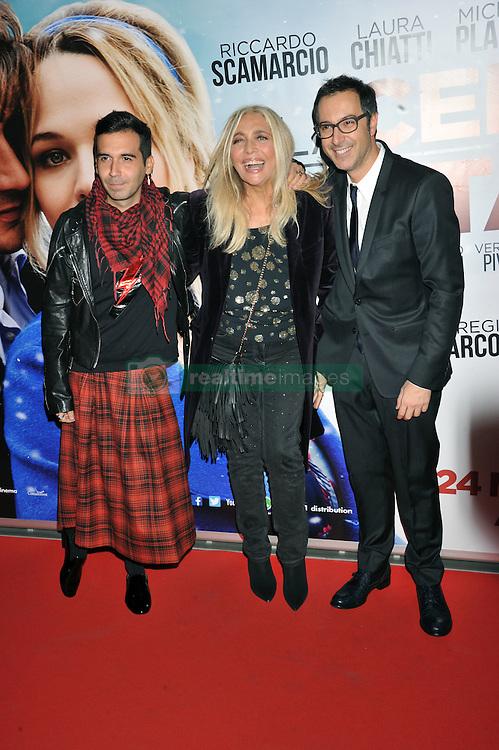 "Mara Venier, Bosco Cobos, Luca Bianchini attending the ""The Christmas Dinner"" premiere held in Rome, Italy."