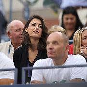 Kristina Milkovic, girlfriend of Marin Cilic, Croatia, watching  during his victory over Kei Nishikori, Japan, in the Men's Singles Final at the US Open Tennis Tournament, Flushing, New York, USA. 8th September 2014. Photo Tim Clayton