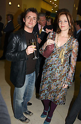 TV presenter RICHARD HAMMOND and actress MIRANDA RICHARDSON at a the Orion Publishing Group Author Party and a private view of the 'Turner Whistler Monet' exhibition at Tate Britain, Atterbury Street, London SW1 on 23rd February 2005.<br /><br />NON EXCLUSIVE - WORLD RIGHTS
