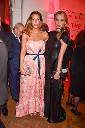 Left to right, Laura Pradelska and Noelle Reno at the Floral Ball in aid of Sheba Medical Center hosted by Laura Pradelska and Zoe Hardman and held at One Marylebone, 1 Marylebone Road, London England. 14 March 2017.