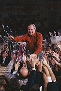 H.W. Bush (Bush 41) campaigning for the presidency in Illinois in November 1988.<br />Photo by Dennis Brack