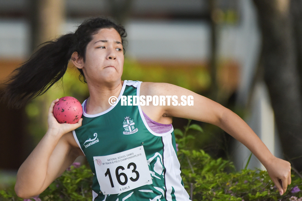 Isabella Grasso of St Joseph's Institution (International) finished seventh in the A Division Girls Finals with a final distance of 7.59m. (Photo © Stefanus Ian/Red Sports)