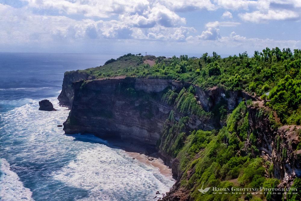 Bali, Badung, Uluwatu. Looking north from Pura Luhur Uluwatu.