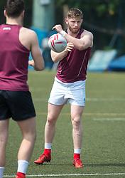 April 2, 2018 - Hong Kong, Hong Kong SAR, CHINA - HONG KONG,HONG KONG SAR,CHINA:April 2nd 2018. The Irish rugby team conduct a training session at Kings Park ahead of their Hong Kong Rugby 7's qualifiers. (Credit Image: © Jayne Russell via ZUMA Wire)