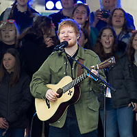 Ed Sheeran performs on NBC's The Today Show in New York City.