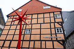 Exterior of Light Box modern art museum at Bomann Museum in Celle, lower Saxony, Germany