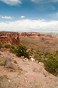 View of Colorado National Monument, near Grand Junction, Colorado, USA; August 2010