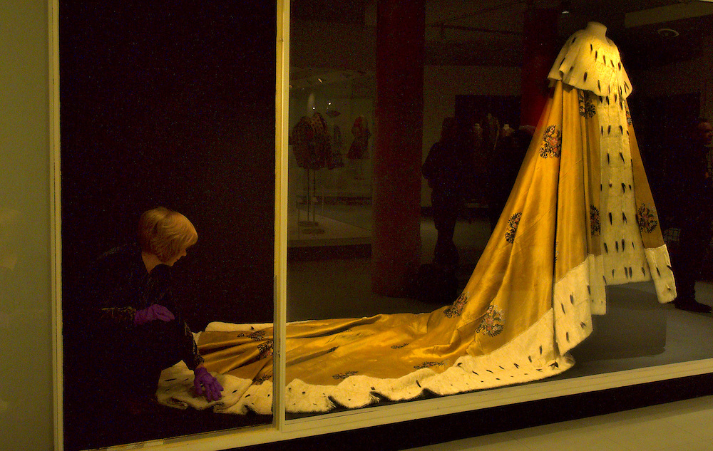 London Dec 8  Svetlana Amelekhina Curator of Magnificence of the Tsars put final touches at  some of the rare and lavishli decorated costumes and uniforms  worn by the Tsars At the V&A  Museum in London. The display include  a five metre long ermine trimmed  Imperial coronated mantle ...Please telephone : +44 (0)845 0506211 for usage fees .***Licence Fee's Apply To All Image Use***.IMMEDIATE CONFIRMATION OF USAGE REQUIRED.*Unbylined uses will incur an additional discretionary fee!*.XianPix Pictures  Agency  tel +44 (0) 845 050 6211 e-mail sales@xianpix.com www.xianpix.com