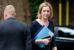 © Licensed to London News Pictures. 11/07/2017. London, UK. Home Secretary AMBER RUDD attends a cabinet meeting in Downing Street, London on Tuesday, 11 July 2017. Photo credit: Tolga Akmen/LNP