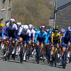 25-04-2021: Wielrennen: Luik Bastenaken Luik (Mannen): Luik<br />Peloton onderweg in de Ardennen
