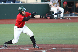 14 August 2015: Cameron Monger during a Frontier League Baseball game between the Washington Wild Things and the Normal CornBelters at Corn Crib Stadium on the campus of Heartland Community College in Normal Illinois