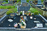 Graves at Lisdeen christian graveyard near Kilkee, County Clare, West of Ireland