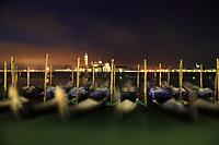 Isola di San Giorgio Maggiore and Gondolas at Night, Venice