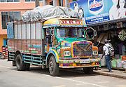 Brightly decorated lorry town of Haputale, Badulla District, Uva Province, Sri Lanka, Asia