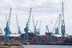 Shipyard Cranes at Liverpool Docks England,