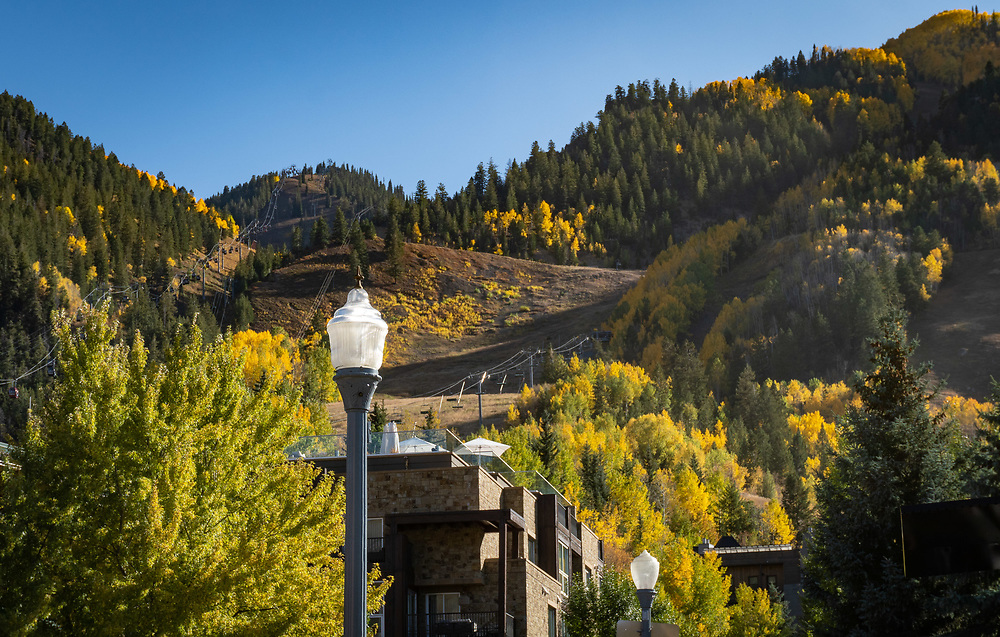 Visit to downtown Aspen during fall color with Brian Barker and children.