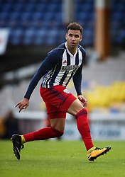 """West Bromwich Albion's Hal Robson-Kanu holds off challenge from Port Vale's Mike Calverley during the pre-season friendly match at Vale Park, Stoke. PRESS ASSOCIATION Photo. Picture date: Tuesday August 1, 2017. See PA story SOCCER Port Vale. Photo credit should read: Nick Potts/PA Wire. RESTRICTIONS: EDITORIAL USE ONLY No use with unauthorised audio, video, data, fixture lists, club/league logos or """"live"""" services. Online in-match use limited to 75 images, no video emulation. No use in betting, games or single club/league/player publications."""