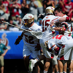 The Denver Pioneers take on the Maryland Terrapins in the 2015 NCAA Men's Lacrosse National Championship Final on May 25, 2015 at Lincoln Financial Field in Philadelphia, Pennsylvania.<br /> (Photo by Will Schneekloth for The University of Denver)