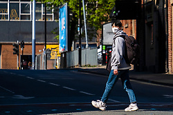 Week five of the covid-19 Lockdown in Sheffield and facemasks are becoming a more familiar site amongst Sheffield residents and students<br /> <br /> 24 April 2020<br /> <br /> www.pauldaviddrabble.co.uk<br /> All Images Copyright Paul David Drabble - <br /> All rights Reserved - <br /> Moral Rights Asserted -