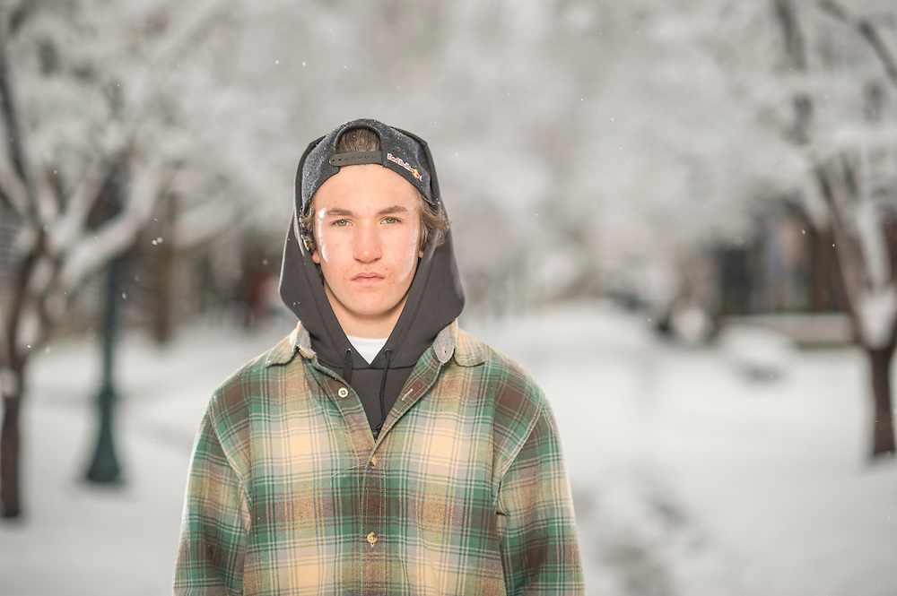 Nik Baden poses for a portrait at the RedBull Performance Camp in Aspen Colorado, United States on April 14th, 2013