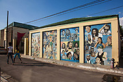 Reggae mural at the Jamaican music museum, downtown Kingston