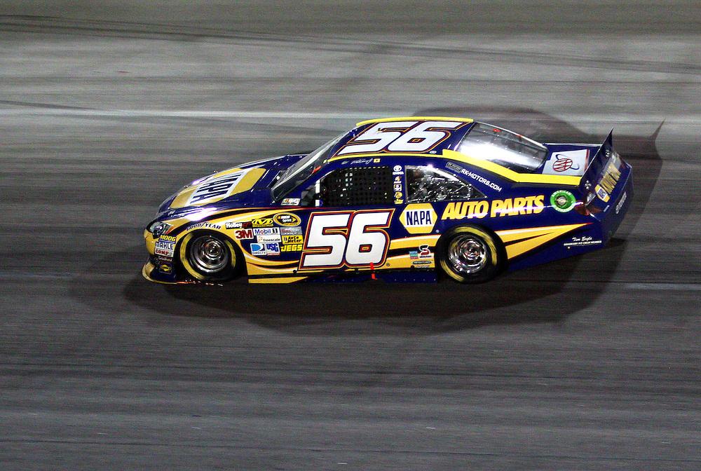 May 12, 2012; Darlington, SC, USA; NASCAR Sprint Cup driver Martin Truex Jr. (56) during the Southern 500 at Darlington Raceway. Mandatory Credit: Peter Casey-US PRESSWIRE.