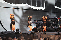 EDITORIAL USE ONLY Support act Camila Cabello on stage as Taylor Swift opens her Reputation stadium tour at the Eitihad Stadium, Manchester.