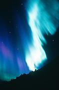 Alaska. In intense dislpay of northern lights (Aurora borealis) turns white hot.