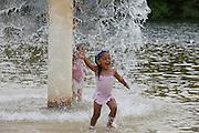 A water feature at Chris Greene Lake in Albemarle County, VA.